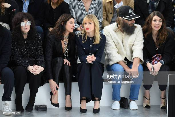 Isabelle Adjani Anna Mouglalis Angele Sebastien Tellier and Amandine de la Richardiere attend the Chanel show as part of the Paris Fashion Week...