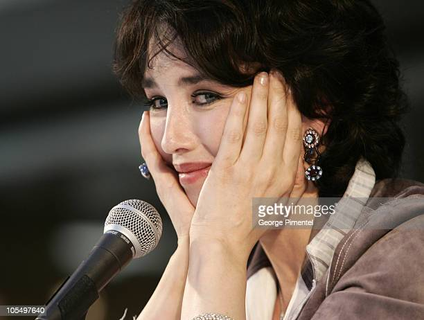 Isabelle Adjani at press conference during Tribute to Isabelle Adjani at 2004 World Film Festival at Complexe Desjardins in Montreal, Quebec, Canada.