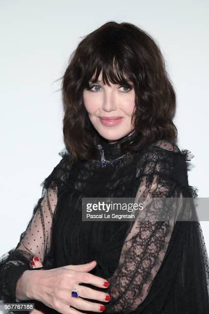 Isabelle Adjani attends a Dior dinner during the 71st annual Cannes Film Festival at JW Marriott on May 12 2018 in Cannes France