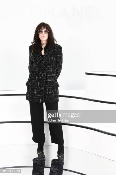 Isabelle Adjani attends the Chanel show as part of the Paris Fashion Week Womenswear Fall/Winter 2020/2021 on March 03, 2020 in Paris, France.