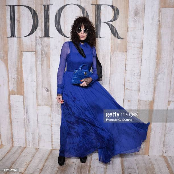 Isabelle Adjani attends the Christian Dior Couture S/S19 Cruise Collection Photocall At Grandes Ecuries De Chantillyon May 25 2018 in Chantilly France