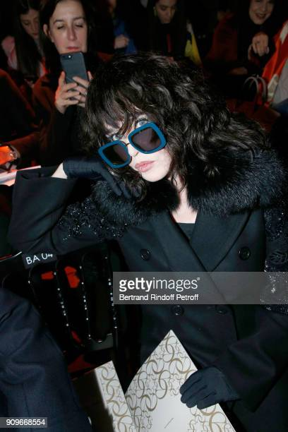 Isabelle Adjani attends the Elie Saab Haute Couture Spring Summer 2018 show as part of Paris Fashion Week on January 24 2018 in Paris France