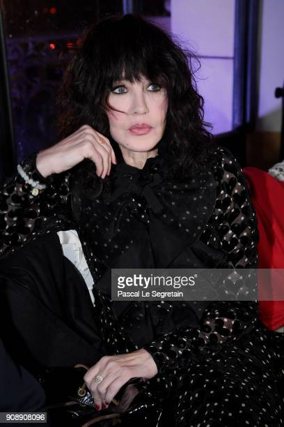 Isabelle Adjani attends the Giambattista Valli Haute Couture Spring Summer 2018 show as part of Paris Fashion Week on January 22, 2018 in Paris,...