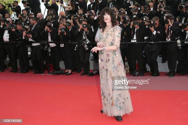 Isabelle Adjani attends the screening of 'Everybody Knows ' and the opening gala during the 71st annual Cannes Film Festival at Palais des Festivals...