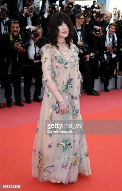 Isabelle Adjani attends the screening of Everybody Knows and the opening gala during the 71st annual Cannes Film Festival at Palais des Festivals on...