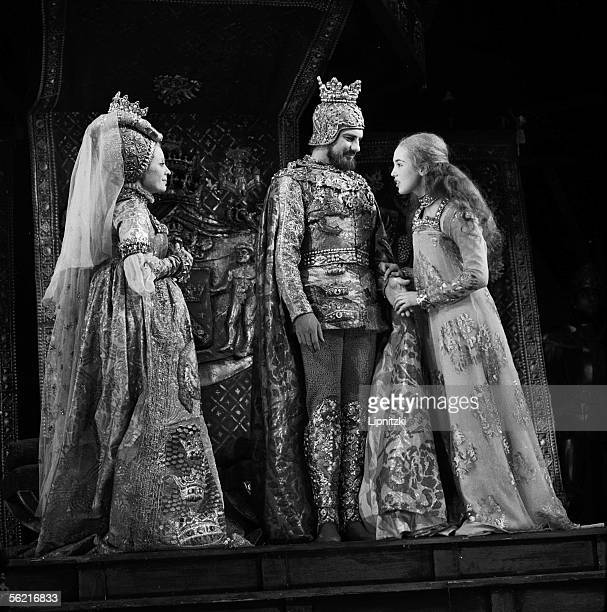 Isabelle Adjani Claude Winter and Jacques Toja in 'Ondine' of Jean Giraudoux Paris ComedieFrancaise march 1974