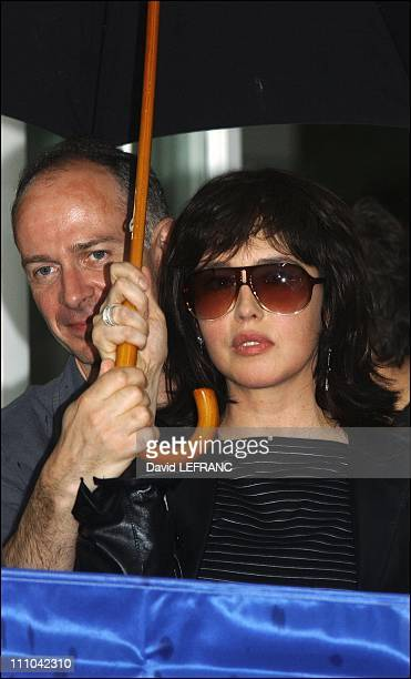 Isabelle Adjani Guillaume Laurant at the Cabourg Romantic Film Festival in Cabourg France on June 13 2003