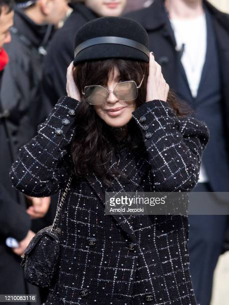 Isabelle Adjani is seen during Paris Fashion Week Womenswear Fall/Winter 2020/2021 on March 03, 2020 in Paris, France.
