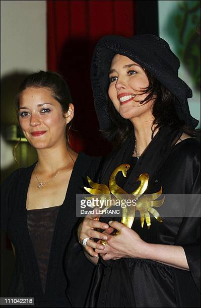 Isabelle Adjani & Marion Cotillard - French actress Isabelle Adjani receives two prizes at the Cabourg Romantic Film Festival: Best Actress for...