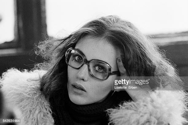 Isabelle Adjani on the movie set of 'Le locataire' directed by Roman Polanski