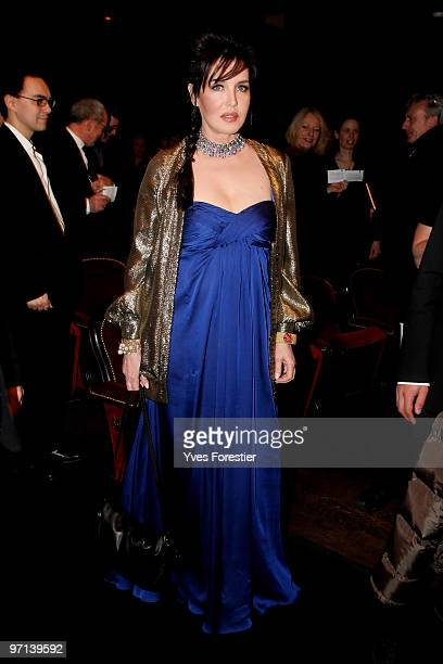 Isabelle Adjani poses as she attends the 35th Cesar Film Awards held at Theatre du Chatelet on February 27 2010 in Paris France