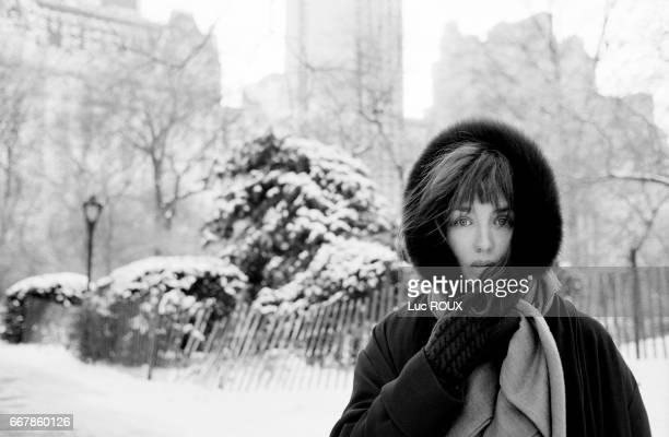 Isabelle Adjani walks through snowcovered Central Park
