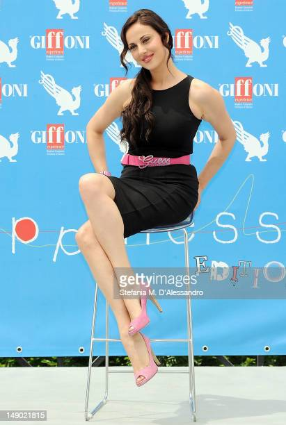Isabelle Adriani attends 2012 Giffoni Film Festival Photocall on July 22 2012 in Giffoni Valle Piana Italy