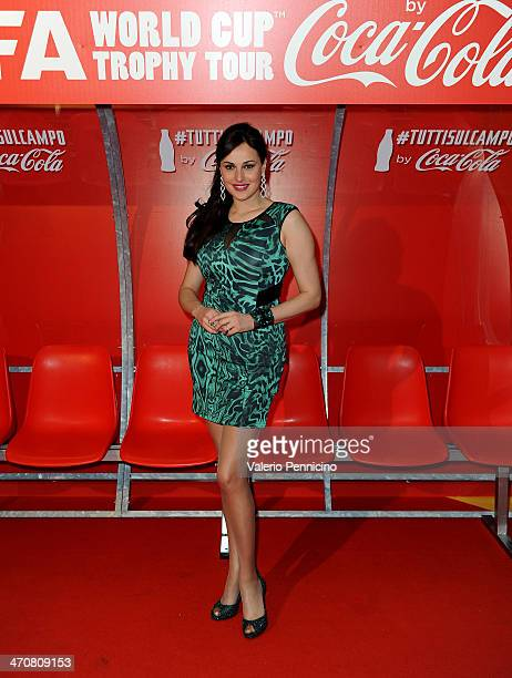 Isabelle Adriani attends a party during day two of the FIFA World Cup Trophy Tour on February 20 2014 in Rome Italy