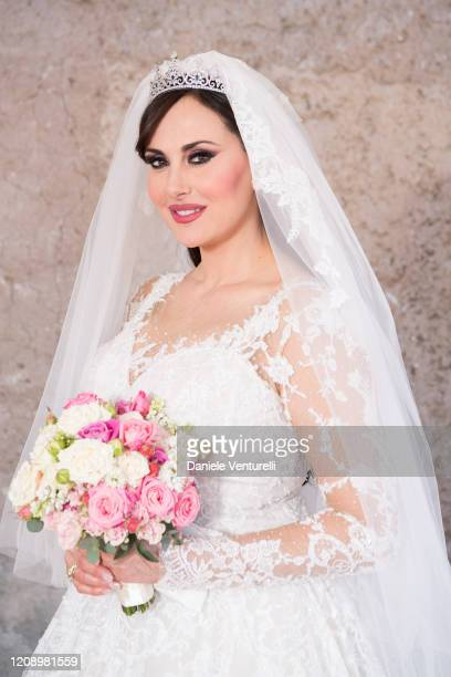 Isabelle Adriani attends the wedding of Earl Vittorio Palazzi Trivelli And Isabelle Adriani on February 22 2020 in Rome Italy