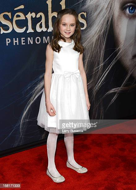 Isabelle Allen attends the Les Miserables New York premiere at Ziegfeld Theater on December 10 2012 in New York City