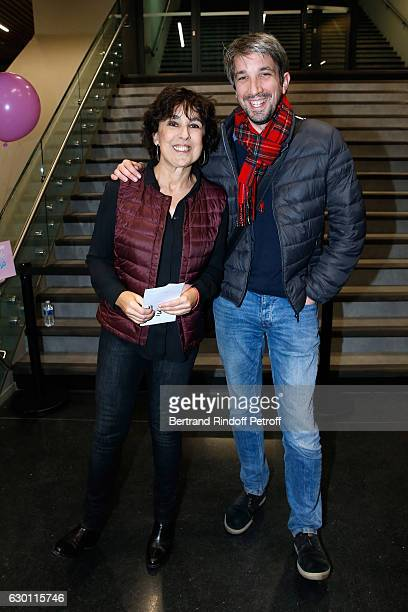 Isabelle Alonso and Guillaume Meurice attend Michael Gregorio performs for his 10 years of Career at AccorHotels Arena on December 16 2016 in Paris...