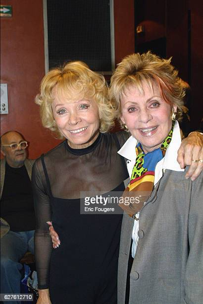 Isabelle Aubret and French singer Annie Cordy at the Olympia