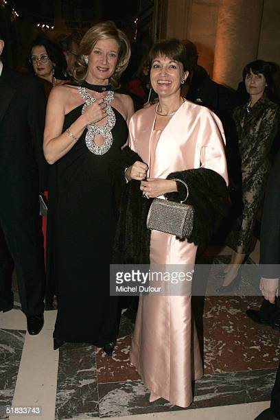 Isabelle Barnier and Mrs JeanPierre Raffarin attend the Child Abuse Foundation Gala at Versailles on December 6 2004 in Versailles France