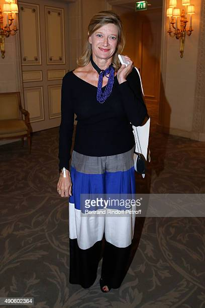 Isabelle Barnier attends the Charity Dinner to Benefit 'Claude Pompidou Foundation' held at 'Four Seasons Hotel George V' on September 29 2015 in...