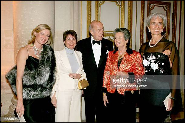 Isabelle Barnier Madame Jean Pierre Raffarin Valery Giscard D' Estaing Anne Aymone Giscard D' Estaing and Christine Lagarde at the Gala Evening La...
