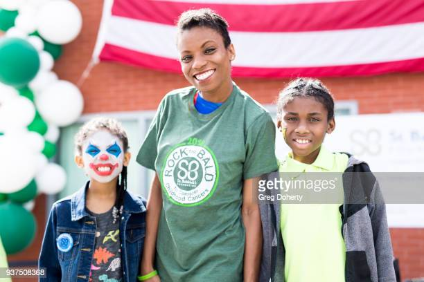 Isabelle Bates Angelique Bates and Christopher Bates attend the St Baldrick's Foundation Celebrity Event on March 24 2018 in North Hollywood...