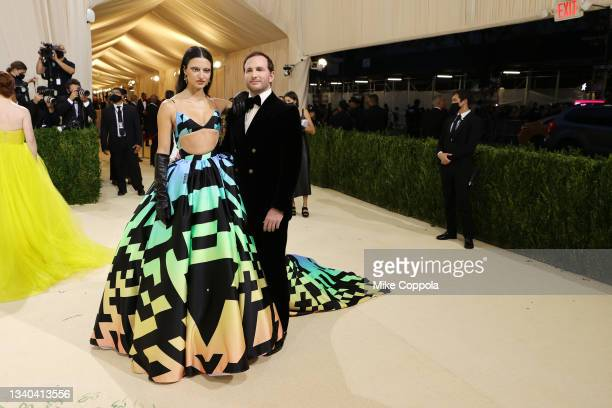 Isabelle Boemeke and Joe Gebbia attend The 2021 Met Gala Celebrating In America: A Lexicon Of Fashion at Metropolitan Museum of Art on September 13,...
