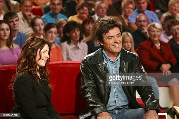 Isabelle Boulay and Daniel Lavoie in Paris France on September 29th 2004