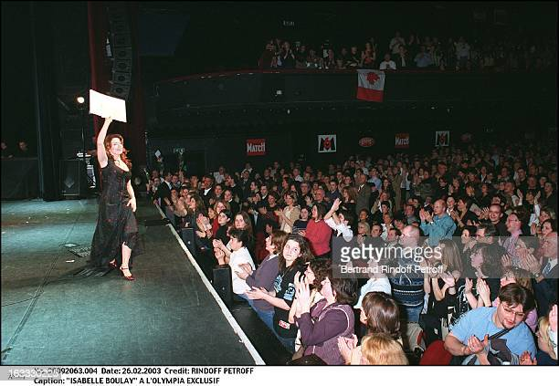 Isabelle Boulay at the Olympia greetings