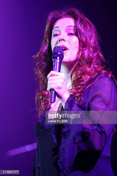 Isabelle Boulay performs at the Espace Charles Aznavour in Divonne les Bains France on May 15th 2005