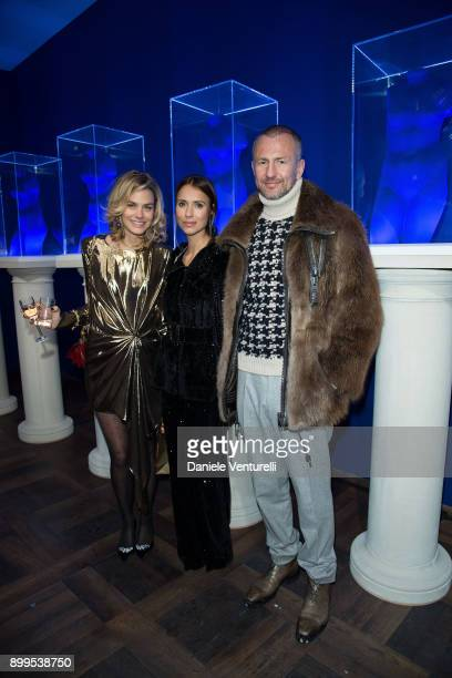 Isabelle Bscher Aleksandra Melnichenko and Andrey Melnichenko attend Galerie Gmurzynska Hosts Diana WidmaierPicasso in Celebration of Mene 24K and...