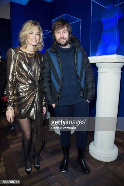 Isabelle Bscher and Francesco Vezzoli attend Galerie Gmurzynska Hosts Diana WidmaierPicasso in Celebration of Mene 24K and Yves Klein on December 27...