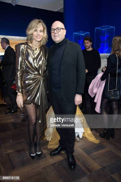 Isabelle Bscher and Staffan Ahrenberg attend Galerie Gmurzynska Hosts Diana WidmaierPicasso in Celebration of Mene 24K and Yves Klein on December 27...