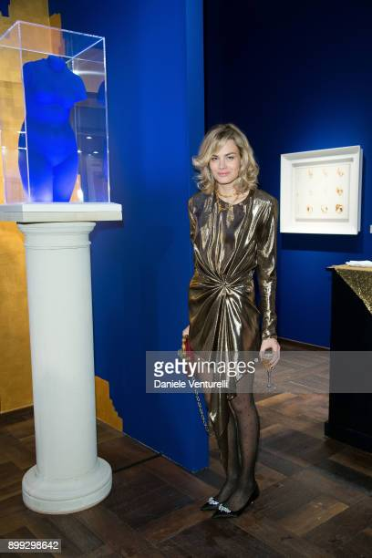 Isabelle Bscher attends Galerie Gmurzynska Hosts Diana WidmaierPicasso in Celebration of Mene 24K and Yves Klein on December 27 2017 in St Moritz...
