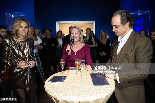 Isabelle Bscher Diana WidmaierPicasso and Mathias Rastorfer attend Galerie Gmurzynska Hosts Diana WidmaierPicasso in Celebration of Mene 24K and Yves...