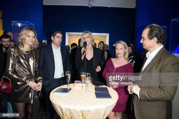 Isabelle Bscher Roy Sebag Anja Rubik Diana WidmaierPicasso and Mathias Rastorfer attend Galerie Gmurzynska Hosts Diana WidmaierPicasso in Celebration...