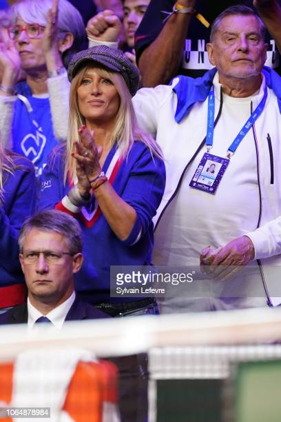 Isabelle Camus and JeanClaude Camux attends Day 2 of the Davis Cup Final 2018 between France and Croatia at Stade Pierre Mauroy on November 24 2018...