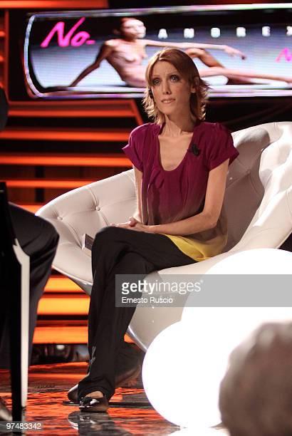 Isabelle Caro attends the 'Barbareschi Sciok' Italian TV Show at La7 Studios on March 5 2010 in Rome Italy