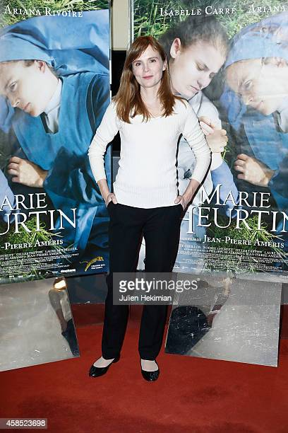 Isabelle Carre attends 'Marie Heurtin' Paris Premiere on November 6 2014 in Paris France
