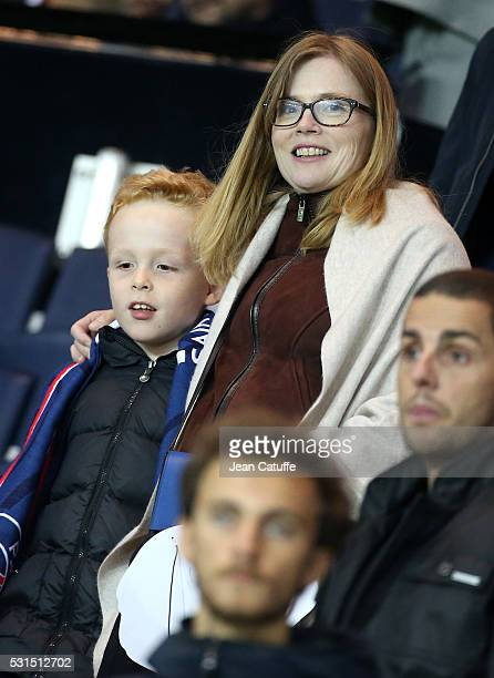 Isabelle Carre attends the French Ligue 1 match between Paris SaintGermain and FC Nantes at Parc des Princes stadium on May 14 2016 in Paris France