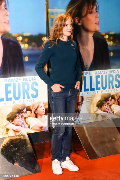 Isabelle Carre attends the 'Une Vie Ailleurs' Paris Premiere at UGC Cine Cite des Halles on March 20 2017 in Paris France