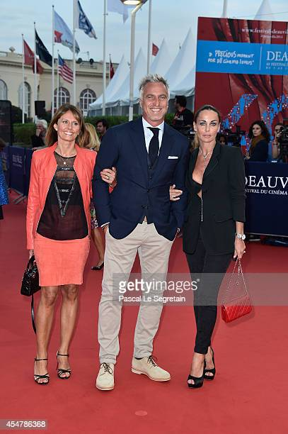 Isabelle Chalencon, David Ginola and wife attends 'The Hundred Foot Journey' Premiere on September 6, 2014 in Deauville, France.