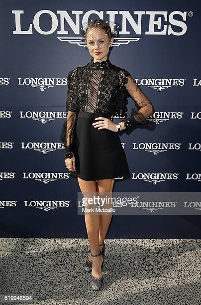 Isabelle Cornish poses during Queen Elizabeth Stakes Day at Royal Randwick Racecourse on April 9 2016 in Sydney Australia
