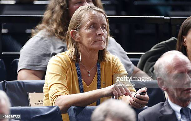 Isabelle Demongeot attends day 5 of the BNP Paribas Masters held at AccorHotels Arena on November 6 2015 in Paris France