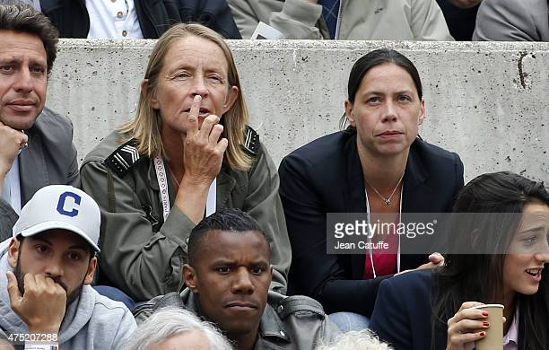 Isabelle Demongeot attends day 6 of the French Open 2015 at Roland Garros stadium on May 29 2015 in Paris France