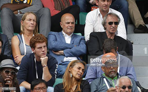 Isabelle Demongeot Patrick Proisy JeanLouis Haillet attend day 10 of the French Open 2015 at Roland Garros stadium on June 2 2015 in Paris France