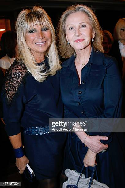 Isabelle Fromager and journalist Marine Jacquemin attend the 17th Clarins Award for Energizing woman 2014 Held at Opera Comique on October 13 2014 in...