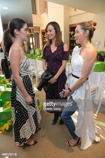 Isabelle Fuhrman Ahna O'Reilly and CEO Tata Harper Skincare Tata Harper attend the Tata Harper VIP Masterclass at Sunset Tower on December 14 2017 in...