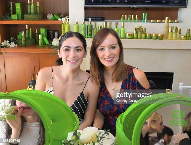 Isabelle Fuhrman and Ahna O'Reilly attend the Tata Harper VIP Masterclass at Sunset Tower on December 14 2017 in Los Angeles California