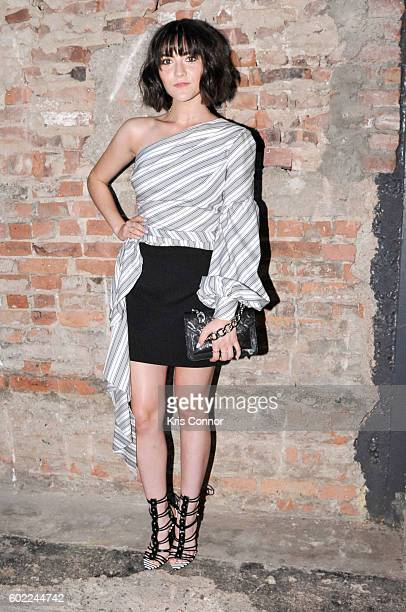 Isabelle Fuhrman attends the Christian Siriano Fashion show during new York Fashion Week September 2016 at ArtBeam in New York City on September 10...